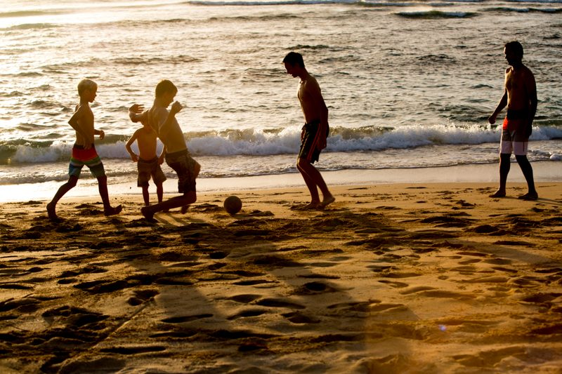 Swansons soccer beach