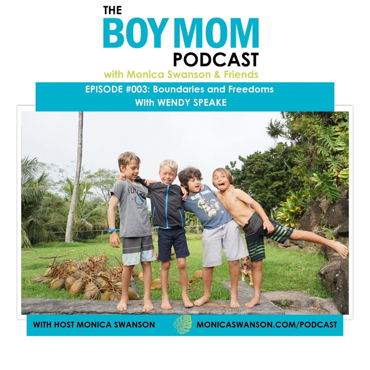 Raising Sons with Boundaries and Freedoms {Podcast Episode 003 with Wendy Speake}