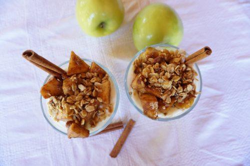 Sweet Cinnamon Apple Yogurt Parfaits