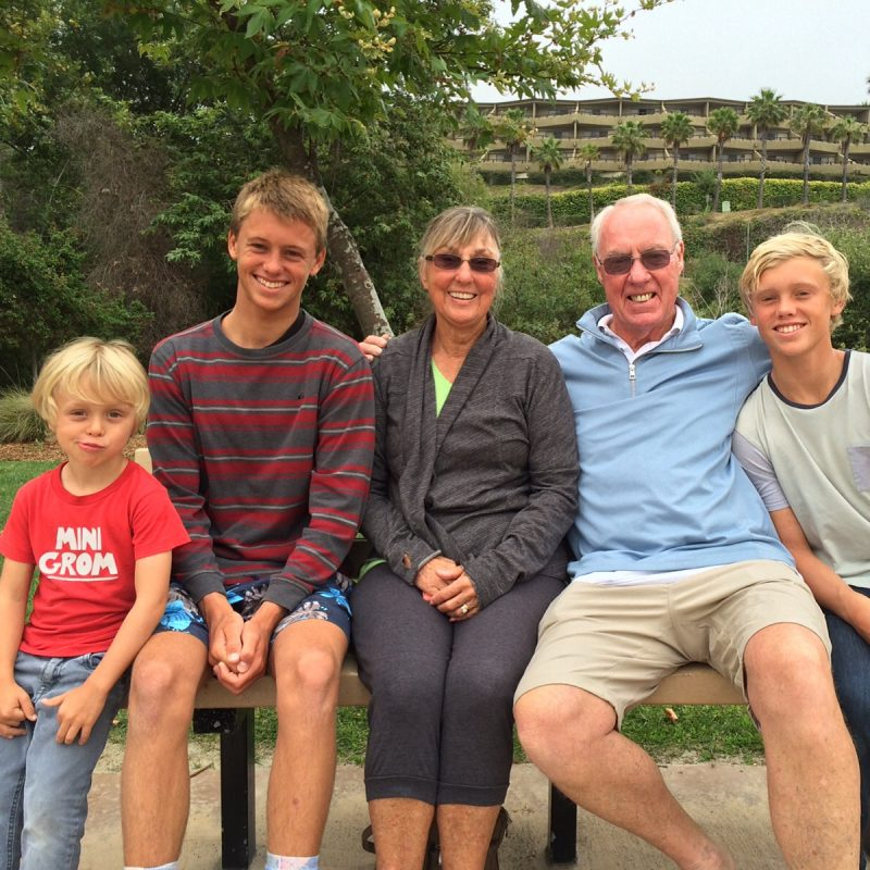 Grandparents with boys