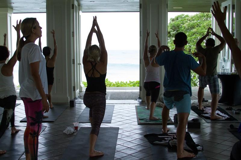 morning yoga with Bridget