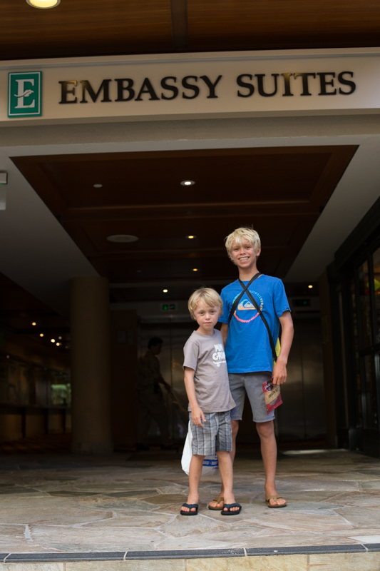 Levi and Luke at Embassy Suites
