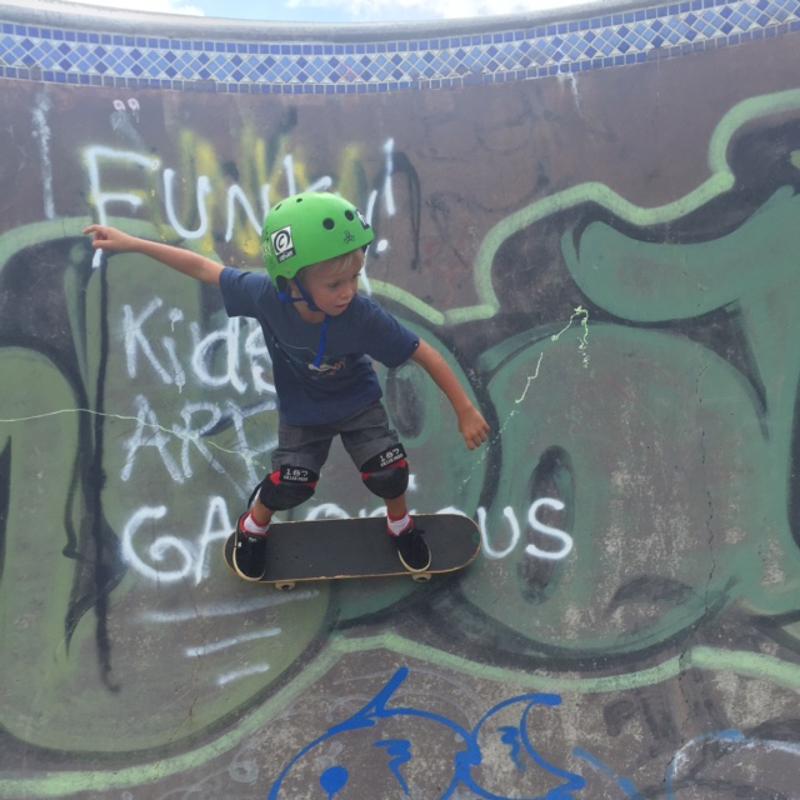 Levi at skate park