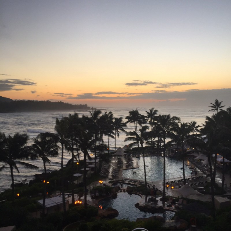 Turtle Bay at Sunset