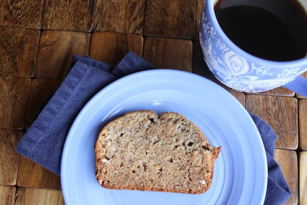 no sugar whole wheat banana bread slice
