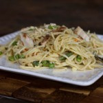 garlic-parm pasta