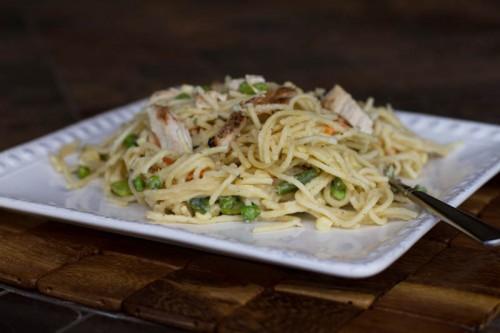 One Pot Garlic Parmesan Pasta w/ Grilled Chicken