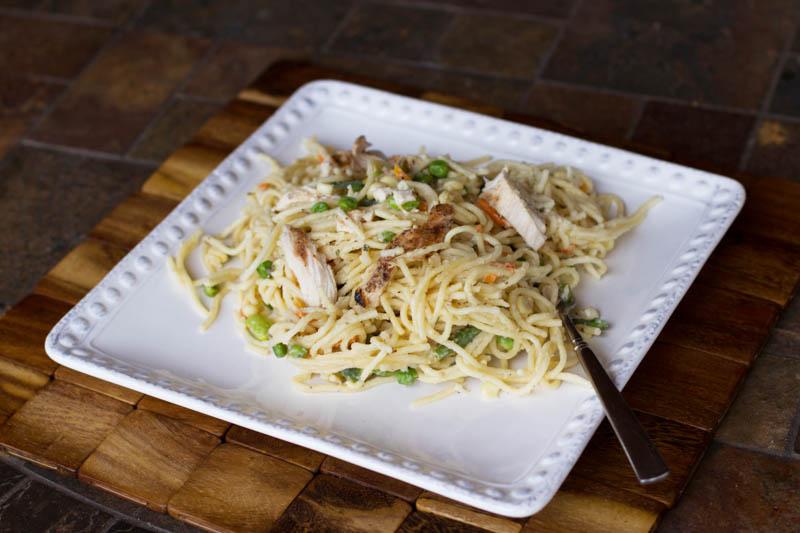 one pot pasta w/ garlic and parmesan