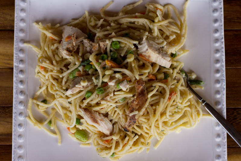 One pot garlic parm. pasta