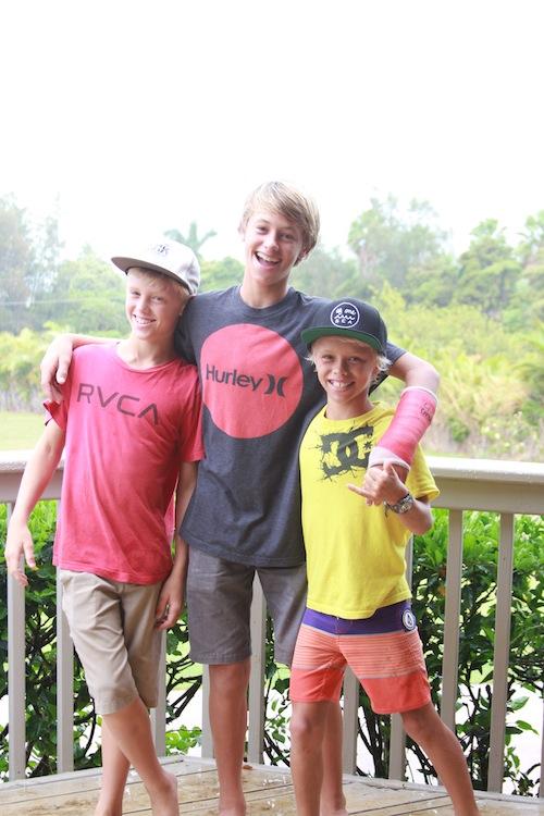 Three Swanson brothers