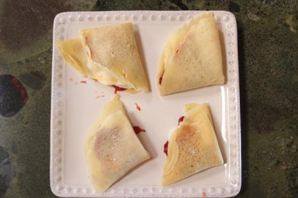 Platter of icelandic pancakes