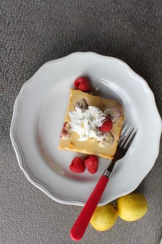Simple Lemon Raspberry Bars