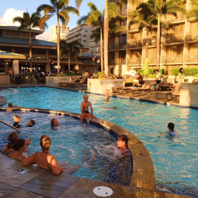 Pool fun Embassy Suites Waikiki