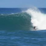Luke surfing sunset