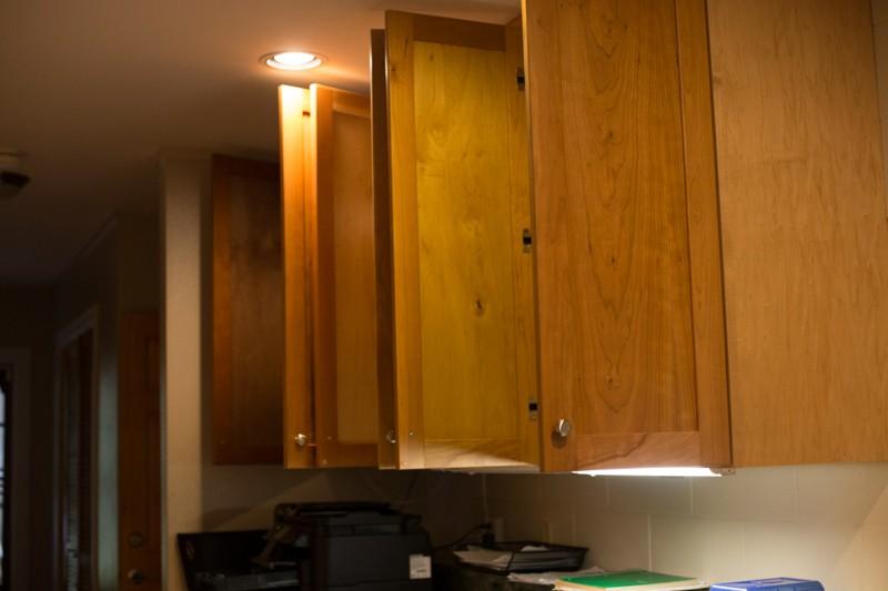 cupboard doors open