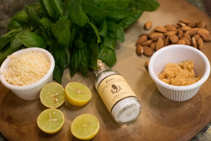 ingredients: Almond basil pesto