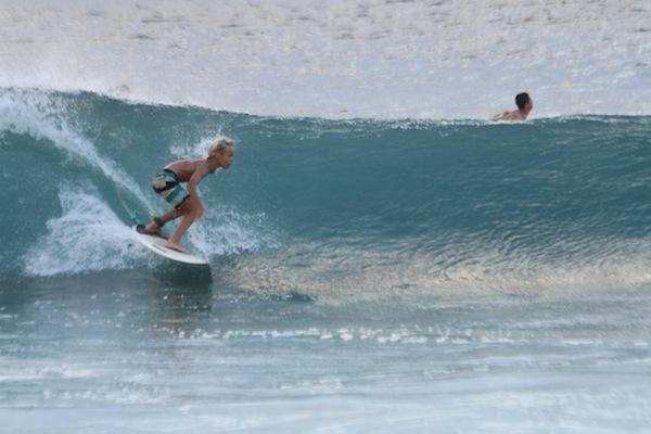 Luke Swanson fall surfing