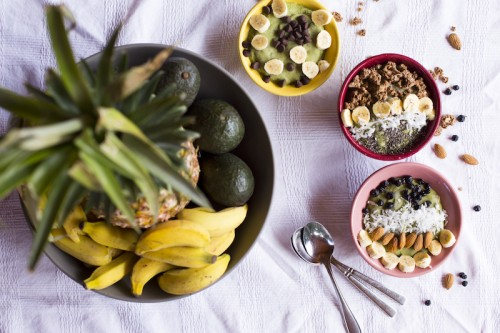 Tropical Smoothie Bowls:  Make your own Acai, and Super Green Bowls