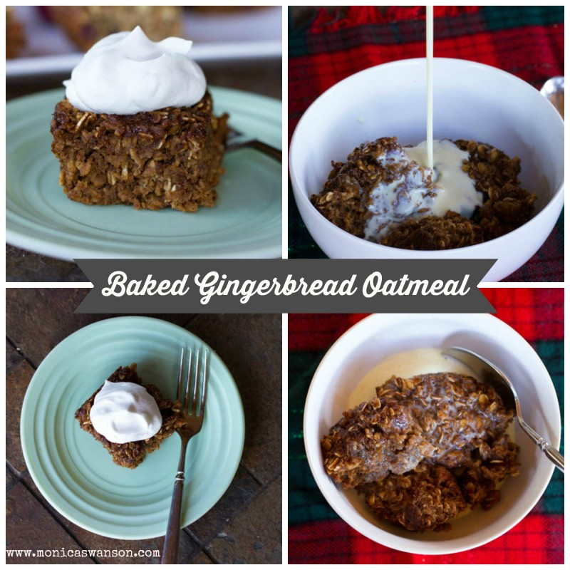 baked gingerbread oatmeal 2way