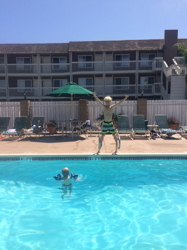 Luke Swanson hotel pool
