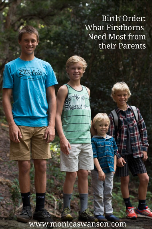 birth order:  What firstborns need most from their parents
