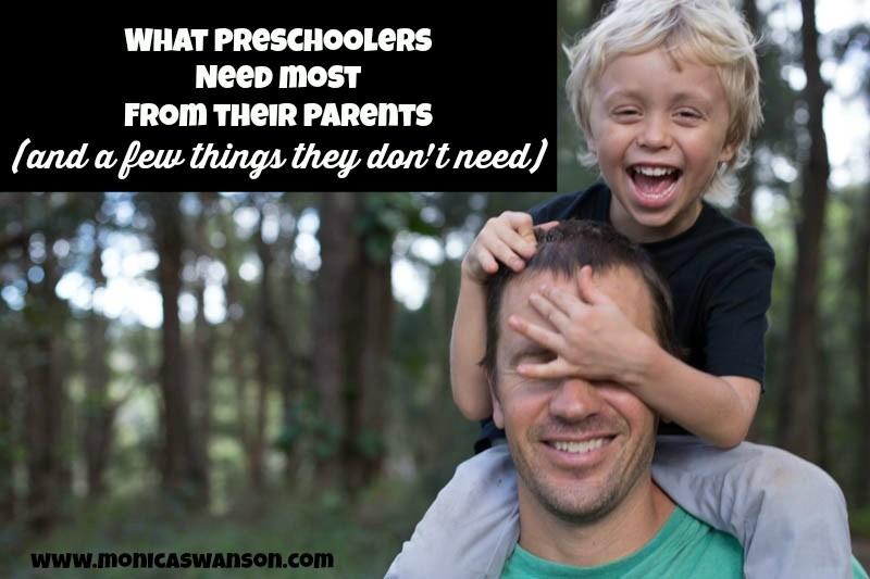 what preschoolers need